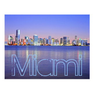 Miami la ciudad mágica en el amanecer postal