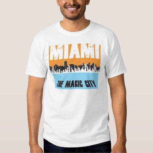 Miami la ciudad mágica playeras