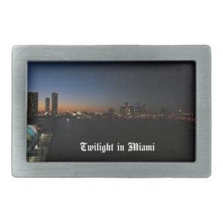 Miami la Florida Hebillas Cinturón Rectangulares