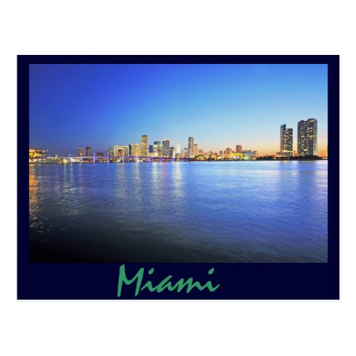 Miami, la Florida, la ciudad hermosa Postal