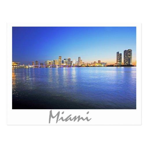 Miami, la Florida, la ciudad hermosa Tarjetas Postales