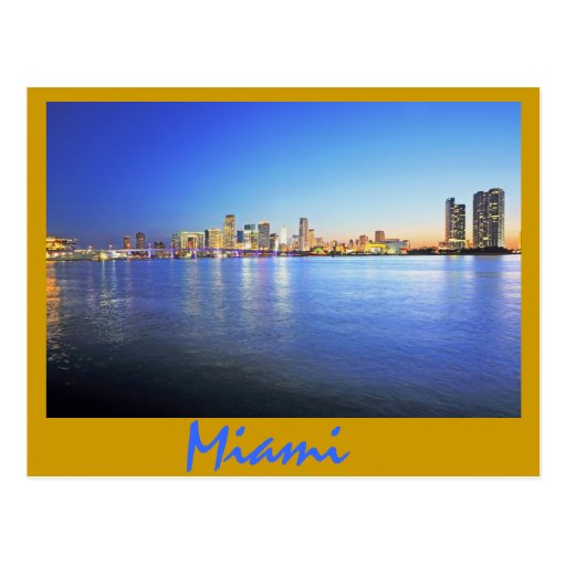 Miami, la Florida, la ciudad hermosa Tarjeta Postal