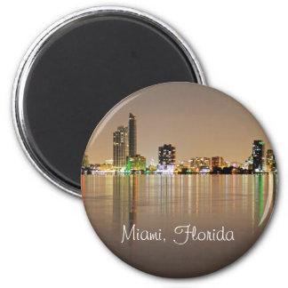 Miami, la Florida, la ciudad mágica en la noche Imán Para Frigorifico