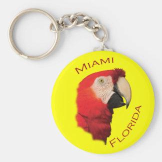 Miami, la Florida Llavero Redondo Tipo Pin