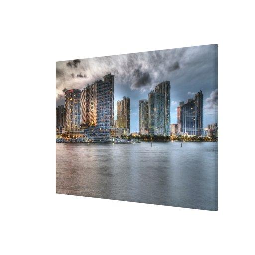 Miami, la Florida Lona Envuelta Para Galerías