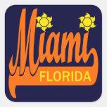 Miami, la Florida Pegatina Cuadrada