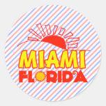 Miami, la Florida Pegatina Redonda