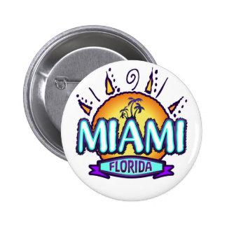 Miami, la Florida Pin Redondo 5 Cm