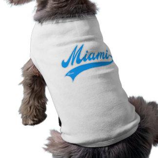 Miami la Florida Playera Sin Mangas Para Perro