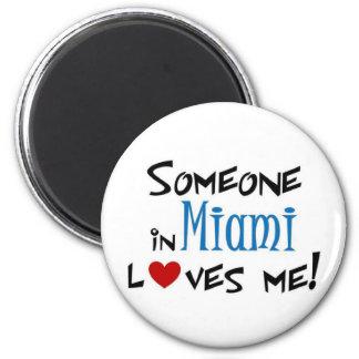 Miami Love 2 Inch Round Magnet