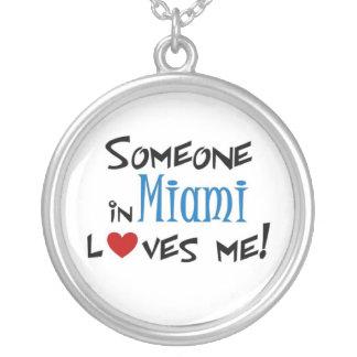 Miami Love Round Pendant Necklace