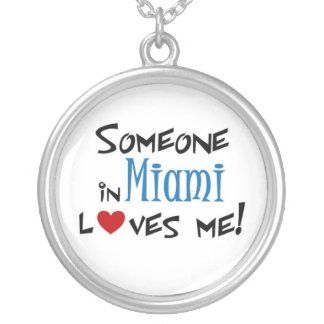 Miami Love Silver Plated Necklace
