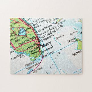 Miami Map Jigsaw Puzzle