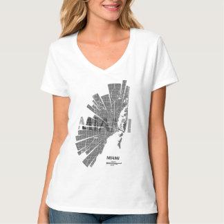 Miami Map T-Shirt for Women