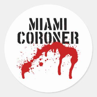 Miami Metro PD Coroner Classic Round Sticker