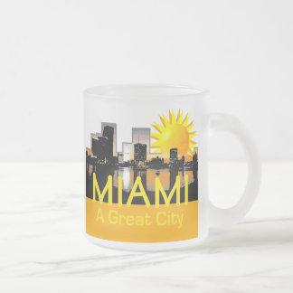 MIAMI 10 OZ FROSTED GLASS COFFEE MUG