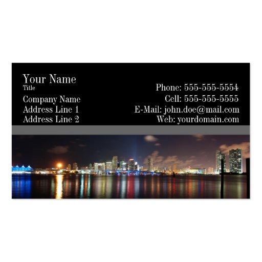 Miami night panorama Business Card