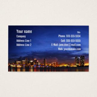 Miami night panorama - Business Card