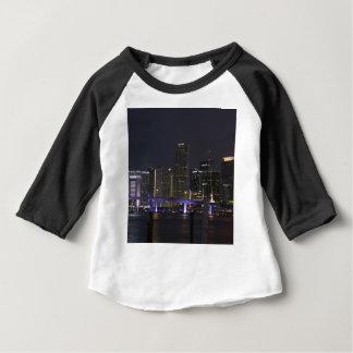 Miami Night Skyline Baby T-Shirt
