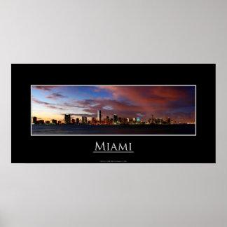 Miami Panorama Poster