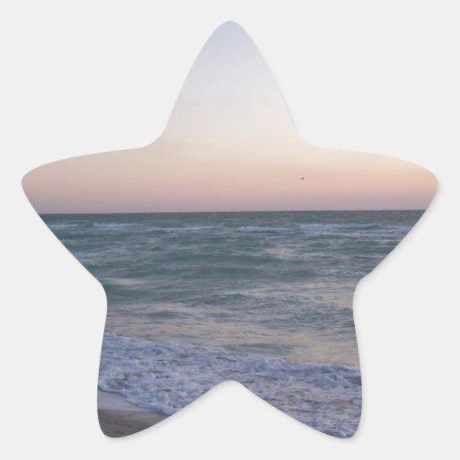 Miami Pegatina En Forma De Estrella