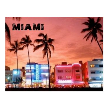Beach Themed MIAMI POSTCARD