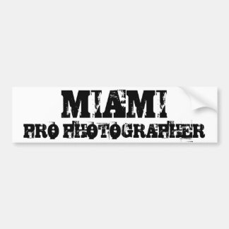 MIAMI PRO PHOTOGRAPHER Bumper Sticker