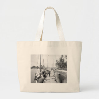 Miami Sailboats, 1905 Large Tote Bag