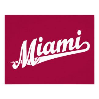 Miami script logo in white custom announcements