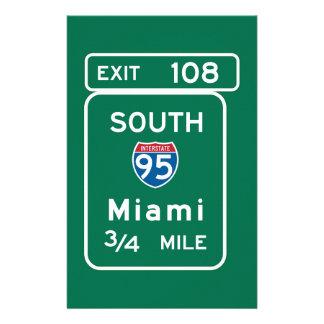 Miami señal de tráfico de FL Papeleria