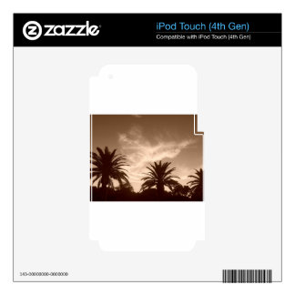 Miami Sepia Treetops Decal For iPod Touch 4G