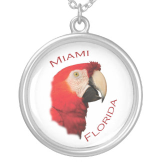 miami silver plated necklace