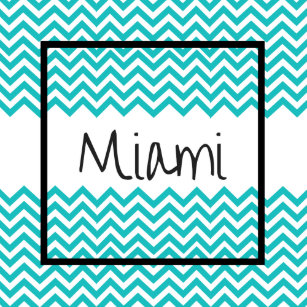 miami simple wave design t shirt