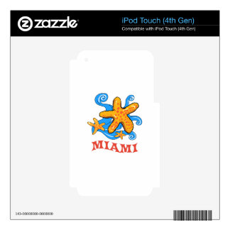 Miami iPod Touch 4G Skins