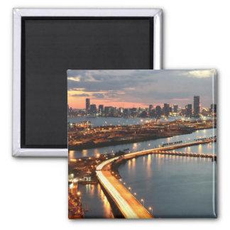 Miami Skyline 2 Inch Square Magnet