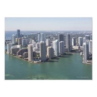 "Miami Skyline 2 5"" X 7"" Invitation Card"