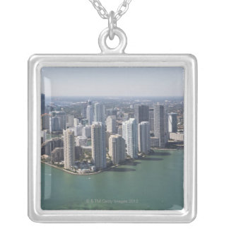 Miami Skyline 2 Silver Plated Necklace