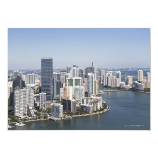 "Miami Skyline 3 5"" X 7"" Invitation Card"