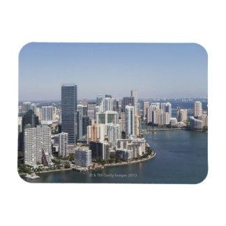 Miami Skyline 3 Rectangular Magnet
