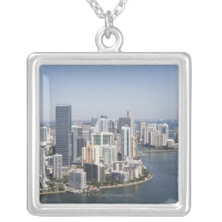 Miami Skyline 3 Silver Plated Necklace