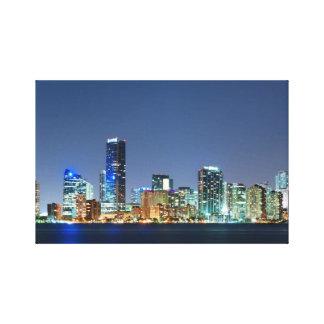 Miami Skyline at Dusk Canvas Print