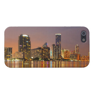 Miami Skyline at Dusk Covers For iPhone 5