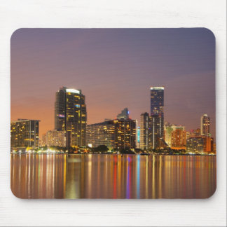 Miami Skyline at Dusk Mouse Pad