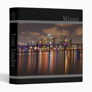 "Miami skyline at night - 1"" binder"