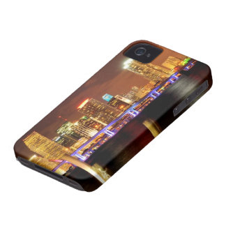 Miami skyline at night, Florida Case-Mate iPhone 4 Case