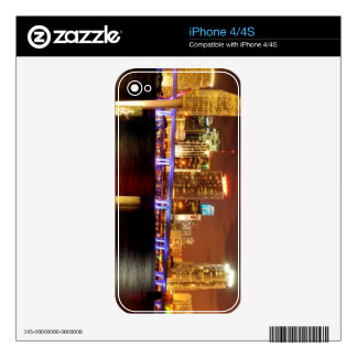 Miami skyline at night, Florida Decal For The iPhone 4S