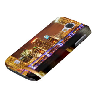 Miami skyline at night, Florida Galaxy S4 Case