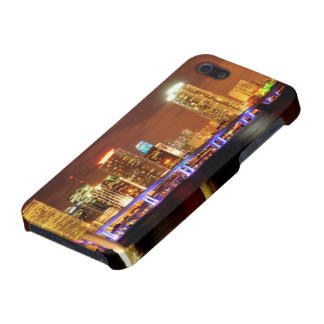 Miami skyline at night, Florida iPhone 5 Cover