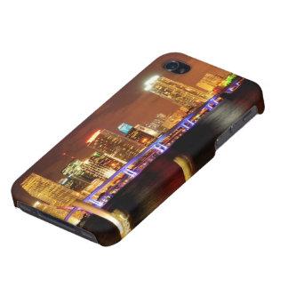 Miami skyline at night, Florida iPhone 4/4S Cases