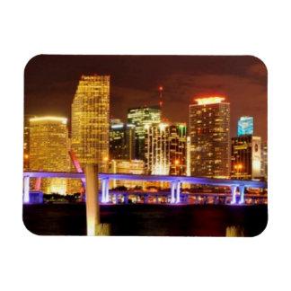 Miami skyline at night, Florida Magnet